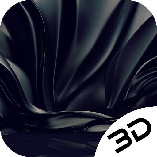 Smooth Black Pitch Silk Hd Live 3D Wallpaper