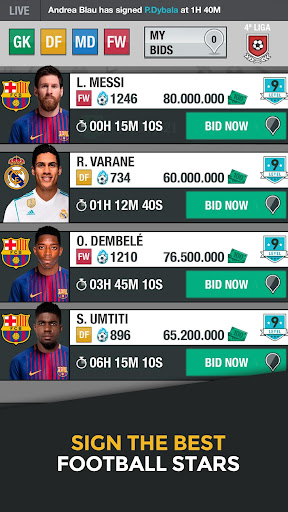 Ligue Foot One Fantasy Manager  screenshots 1