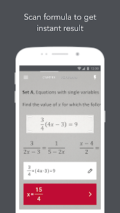 Photomath - Camera Calculator Screenshot 1