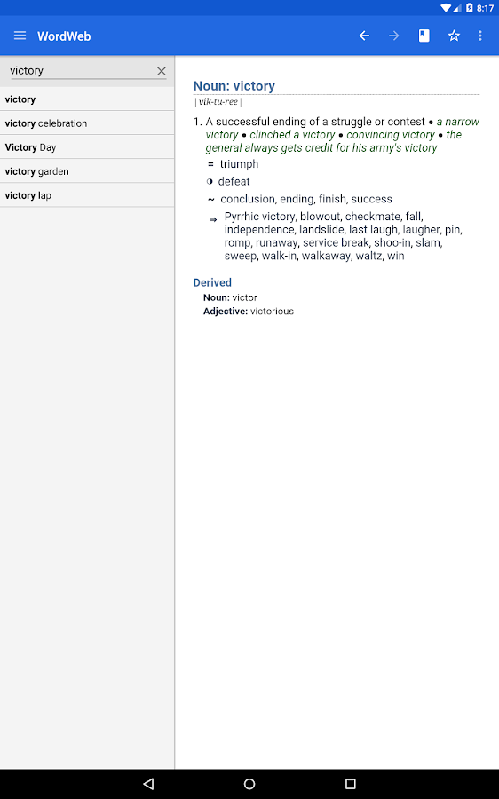 Dictionary - WordWeb- screenshot