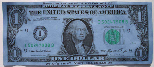 Photo: Blue Bill $1 -large file