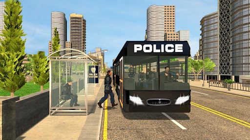Police Bus Driving Simulator: US Cops Coach Drive 1.0 screenshots 1