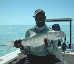 Photo: Andros Island Bonefish guide Chris Leadon