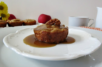Photo: Apple Cider Caramel Pancake Popovers - A baked pancake full of apples & topped with a creamy, thick caramel sauce.  http://www.peanutbutterandpeppers.com/2012/11/28/apple-cider-caramel-pancake-popovers/  #apples   #pancakes   #caramel   #syrup   #breakfast