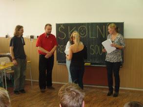Photo: Školní kolo recitační soutěže - předávání cen nejlepším soutěžícím.