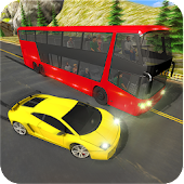 Racing In Bus: Real Highway Traffic