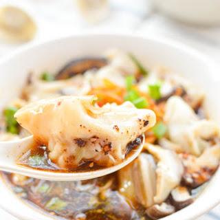 Red Oil Wonton Soup - chao shou