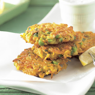 Sweet Potato Fritters with Cilantro Yogurt