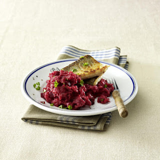 Sea Bass With Beet Purée