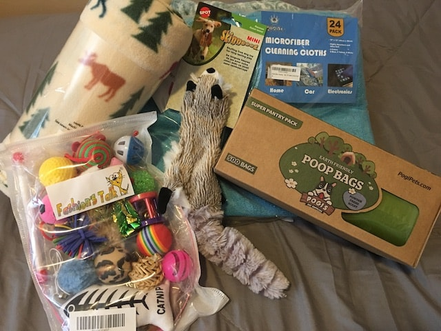 Pet toy donations for Kaysville from the AnswerConnect meetup