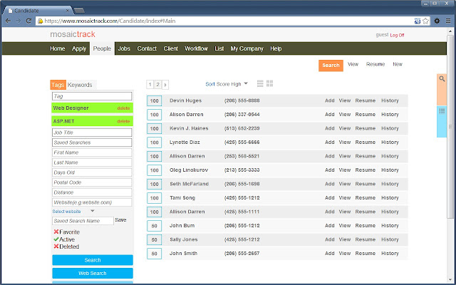 mosaictrack applicant tracking system chrome web store