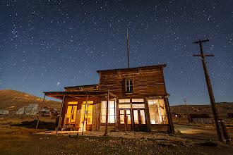 Photo: Bodie's Wheaton & Hollis Hotel at Night