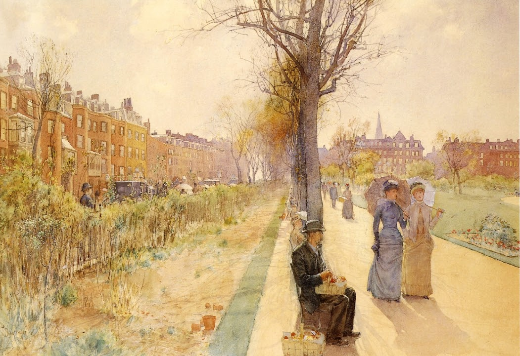 Boston Common by Frederick Childe Hassam - circa 1890