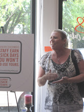 Photo: Susan Kauchok of Childspace CDI discusses the importance of paid sick days in a childcare setting.