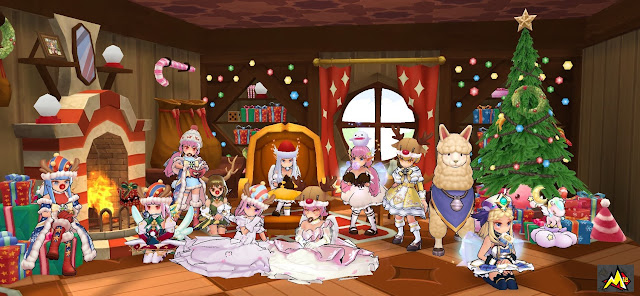 M记 All Girls Christmas Costume Themed Official Calendar Photo