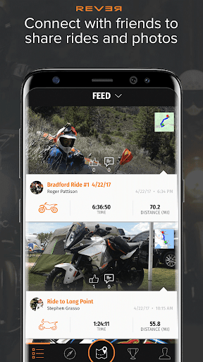 Rever Motorcycle - GPS Route Tracker & Navigation  screenshots 4