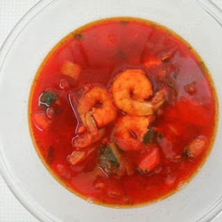 Borscht With Shrimp