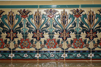 Photo: Barron Kitchen - Decorative Tile Close-Up Pvt. Residence W. Los Angeles, CA