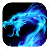 Blue Flaming Dragon Theme