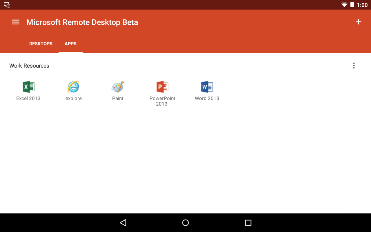 Microsoft Remote Desktop Beta - Android Apps on Google Play