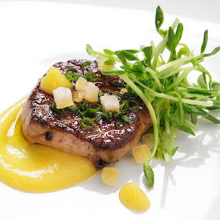 Pan-Seared Foie Gras With Spiced Citrus Purée.