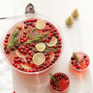 Sparkling Hibiscus Holiday Punch