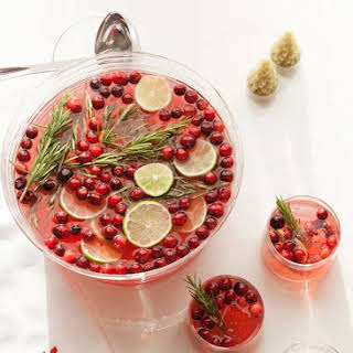 Sparkling Hibiscus Holiday Punch.
