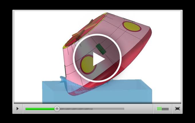 LS-DYNA позволяет инженерам моделировать самые разные задачи нелинейной динамики – например, посадку космического аппарата Orion на воду
