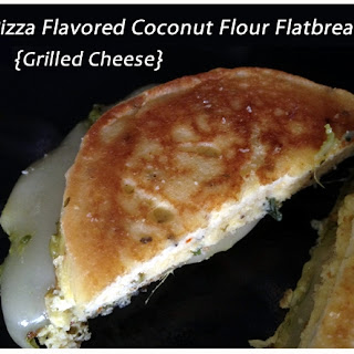 Pizza Flavored Coconut Flour Flatbread Grilled Cheese {Recipe Update}