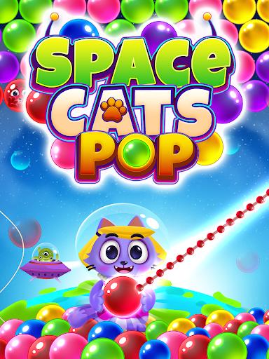 Space Cats Pop - Kitty Bubble Pop Games apktram screenshots 10