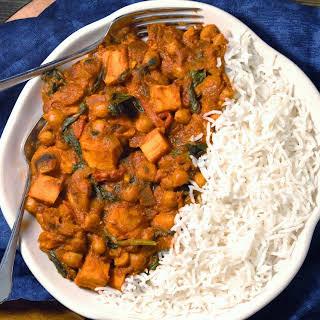 Vegan Sweet Potato & Chickpea Coconut Curry.