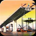 River Bridge construction : Road Bridge Builder 3D icon