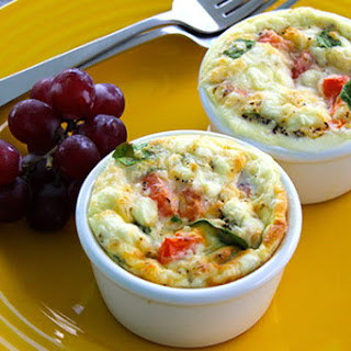 Individual Egg & Spinach Bowls