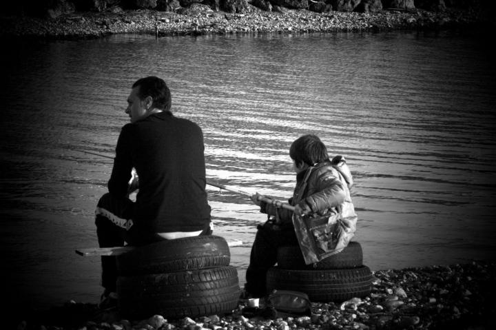 Papà, m'insegni a pescare? di Petruzzo