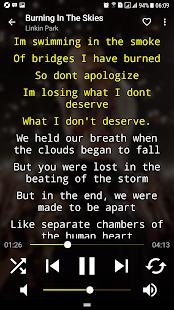 Musicpower - Music Player and Lyrics (free ads) Screenshot