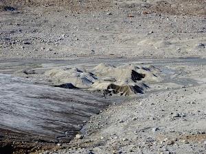 Moraine (a.k.a. quicksand) at the glacier snout