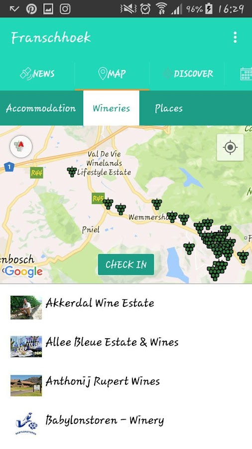 Franschhoek Wine Valley- screenshot