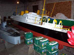 Photo: Peasholm Park naval warfare boat in storage.