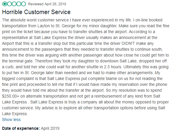 Salt Lake Express Review