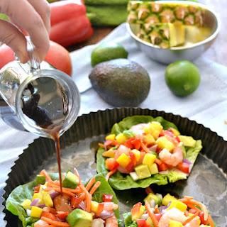 Tropical Shrimp Lettuce Wraps