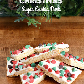 Christmas Sugar Cookie Bark