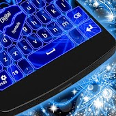 Blue Neon Color Keyboard