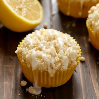 Lemon Crumb Muffins with Lemon Glaze.