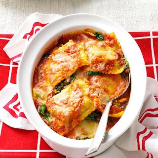Spinach Ravioli Bake.
