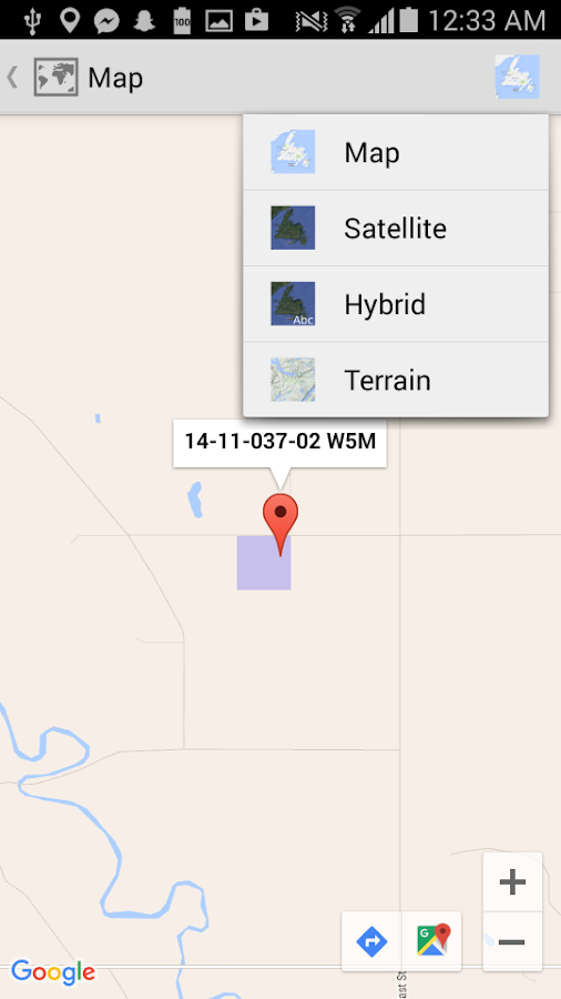 how to find coordinates on google maps app