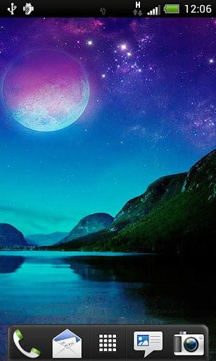 Big Full Moon Live Wallpaper