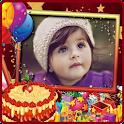 Photo & Name On Birthday Cake icon