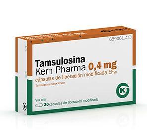 tamsulosina 0.4mg 30cápsulas kern pharma