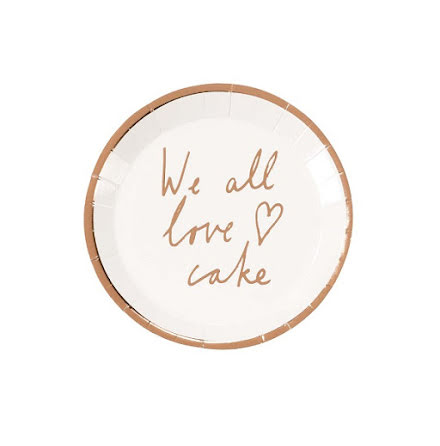 Små assietter - We all love cake, roséguld