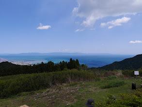 満観峰から駿河湾を望む